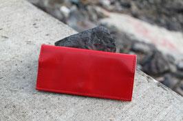 Tabaktasche aus Leder mit Magnetknopf - rot