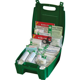 Evolution British Standard Compliant Workplace First Aid Kit in Green Case (Medium)