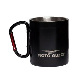 Moto Guzzi Tasse Aluminium schwarz