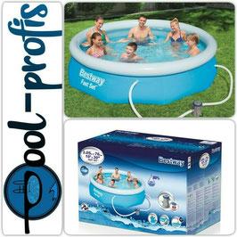 BESTWAY Fast Set Pool Swimmingpool Rund Filterpumpe 305 x 76 cm