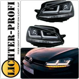 OSRAM LEDriving® VOLL LED Xenon  Tagfahrlicht Scheinwerfer schwarz dynamisch für VW Golf 7 VII Baujahr 2012 - 2016