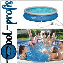 BESTWAY Fast Set Pool Swimmingpool Rundpool Filterpumpe 457 x 84 cm