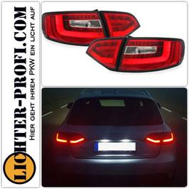 Led Rückleuchten rot klar dynamisch für Audi A4 B8 8K Avant Baujahr 2008 - 2013