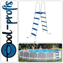 Poolleiter Pool Swimmingpool Leiter mit 4 Stufen Plattform 132cm