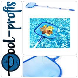 Poolkescher mit Alu-Teleskopstange Laubkescher für Swimmingpool