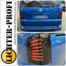 Voll Led Lightbar Rückleuchten schwarz für VW T5 Bus Heckklappe Baujahr 2003 - 2015