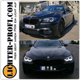 Xenon 3D Led Tagfahrlicht Scheinwerfer schwarz dynamisch für BMW 5er F10 F11 Baujahr 2010 - 2013