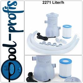 Pool Filterpumpe Wasserfilter Kartuschenfilter Swimmingpool 2271 l/h 600 GAL