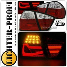 Led Lightbar Rückleuchten rot / weiß für BMW E90 Limo Baujahr 2005 - 2008