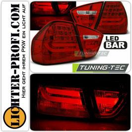 Led Lightbar Rückleuchten rot für BMW E90 Limo Baujahr 2005 - 2008