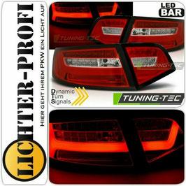 Led Rückleuchten rot weiss dynamisch für Audi A6 4F Limousine Baujahr 2008 - 2011