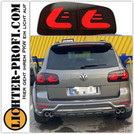 Voll Led Lightbar Rückleuchten schwarz smoke für VW Touareg I 7L Baujahr 2002 - 2010