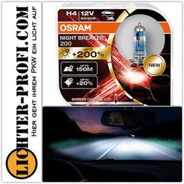 Osram H4 12V NIGHT BREAKER 200 bis zu 200% mehr Licht