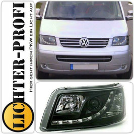Led Scheinwerfer schwarz für VW T5 Bus Baujahr 2003 - 2009