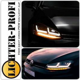 OSRAM LEDriving® VOLL LED Tagfahrlicht Scheinwerfer schwarz dynamisch für VW Golf 7 VII Baujahr 2012 - 2016