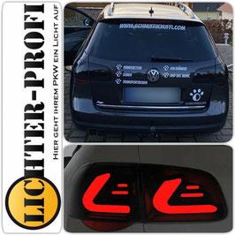 Voll Led Lightbar Rückleuchten schwarz smoke für VW Passat 3C Variant Baujahr 2005 - 2010