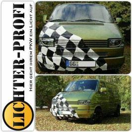 Led TFL Optik Scheinwerfer schwarz für VW T4 Bus kurzer Vorderwagen Baujahr 1990 - 2003