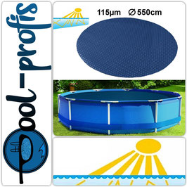 115µm Pool Solarplane Poolheizung Solarfolie Rund 550 cm