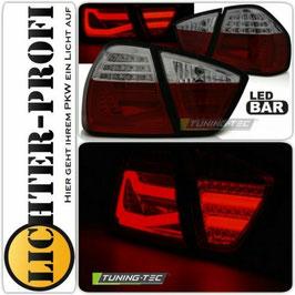 Led Lightbar Rückleuchten rot / smoke für BMW E90 Limo Baujahr 2005 - 2008