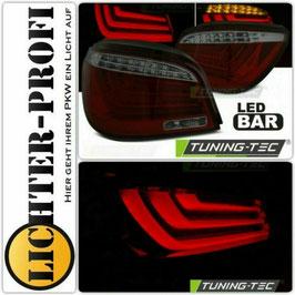 Led Lightbar Rückleuchten in Rot Smoke für BMW 5er E60 Limousine Baujahr 2003 - 2007