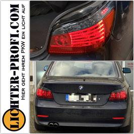 Led Rückleuchten in Rot Smoke dynamisch für BMW 5er E60 Limousine Baujahr 2003 - 2007