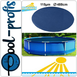115µm Pool Solarplane Poolheizung Solarfolie Rund 488 cm