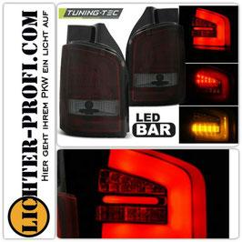 Led Lightbar Rückleuchten rot smoke für VW T5 Bus Heckklappe Baujahr 2009 - 2015