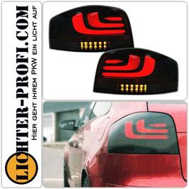 Voll Led Lightbar Rückleuchten dynamisch schwarz smoke für Audi A3 8P Baujahr 2003 - 2008
