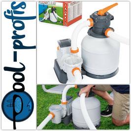 BESTWAY Flowclear Profi Sandfilteranlage Pool Filterpumpe 8327 l/h mit Zeitschaltuhr