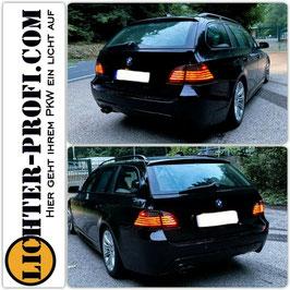 Led Rückleuchten in Rot Schwarz für BMW 5er E61 Touring Baujahr 2004 - 2007