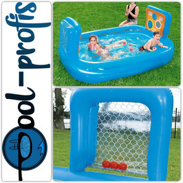 BESTWAY Pool Family Torwand Swimmingpool Planschbecken 237 x 152 x 94cm