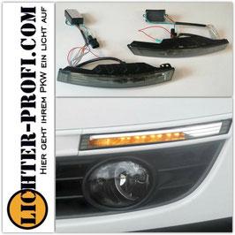 carDNA Led Frontblinker dynamisch mit Led Standlicht smoke für VW Passat 3C B6 Limo Variant Baujahr 2005 - 2010