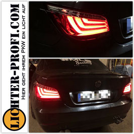 Led Lightbar Rückleuchten rot / weiß für BMW 5er E60 Limousine Baujahr 2007 - 2010