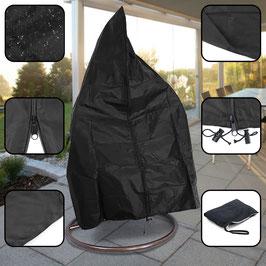 Premium Schutzabdeckung Schutzhülle Cover für Hängesessel Schwarz 190x100cm