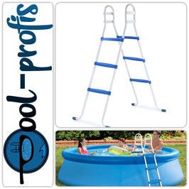 Poolleiter Pool Swimmingpool Leiter mit 3 Stufen Plattform 105cm