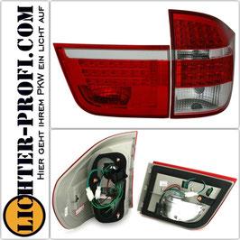 Led Rückleuchten rot weiß für BMW X5 E70 Baujahr 2007 - 2010