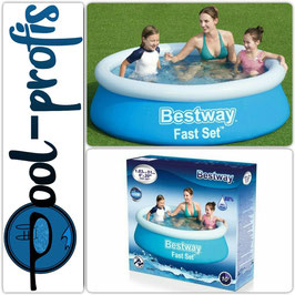 BESTWAY Fast Set Pool Kinder Planschbecken Swimmingpool 183x 51 cm
