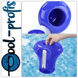 Pool Dosierschwimmer Thermometer 200g Chlordosierer Swimmingpool