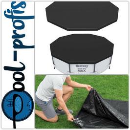 BESTWAY Pool Abdeckung rund Schutz Plane PVC Swimmingpool Cover ∅ 370cm
