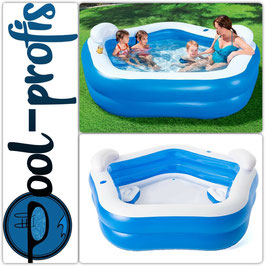 BESTWAY Pool Family Fun Swimmingpool Planschbecken fünfeckig 213 x 206 x 69cm