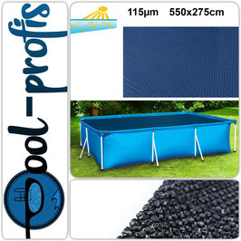 115µm Pool Solarplane Poolheizung Solarfolie Rechteckig 550 x 275 cm
