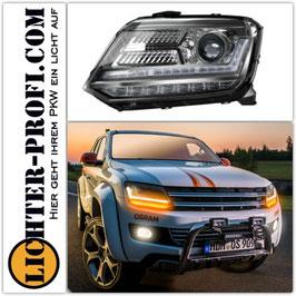 OSRAM LEDriving® XENARC® VOLL LED Tagfahrlicht Scheinwerfer schwarz dynamisch für VW Amarok ab Baujahr 2010