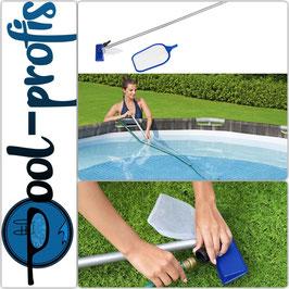BESTWAY Poolpflege Poolreinigung Venturisauger Kescher Set bis Pools mit 396cm