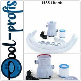 Pool Filterpumpe Wasserfilter Kartuschenfilter Swimmingpool 1135 l/h 300 GAL