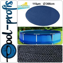 115µm Pool Solarplane Poolheizung Solarfolie Rund 366 cm