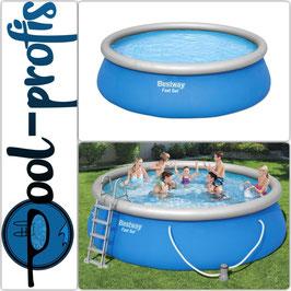 BESTWAY Fast Set Pool Komplett Set rund Filterpumpe 457 x 122cm