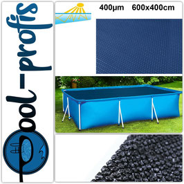 400µm Pool Solarplane Poolheizung Solarfolie Rechteckig 600 x 400 cm