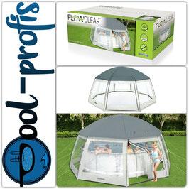 BESTWAY Pool Abdeckung Pavillon Schutz Swimmingpool Cover rund Durchmesser 600cm