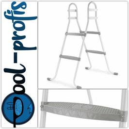 Poolleiter mit 2 grauen Stufen bis 85cm für Bestway Intex Pool Swimmingpool