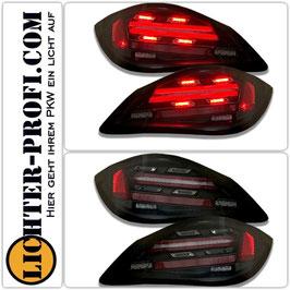 Voll Led Lightbar Rückleuchten dynamisch schwarz smoke für Porsche Boxster 987.2 Cayman 987c  Baujahr 2005 - 2014